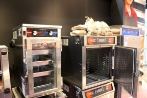 Smoker Ovens and Heated Holding Cabinets being prepped for Cooking at the Show