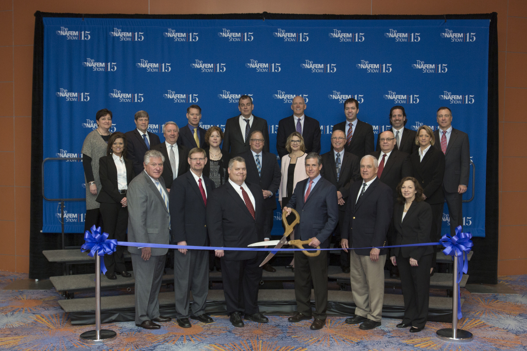 Deron Lichte (third from left, back row) at the 2015 NAFEM Ribbon Cutting Ceremony