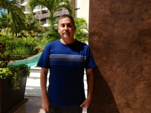 Gerardo Reyes poses at resort.