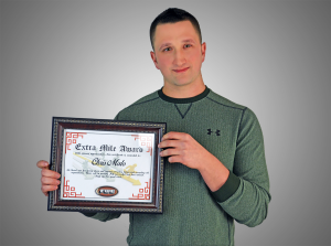Chris Malo, Extra Mile Award Winner