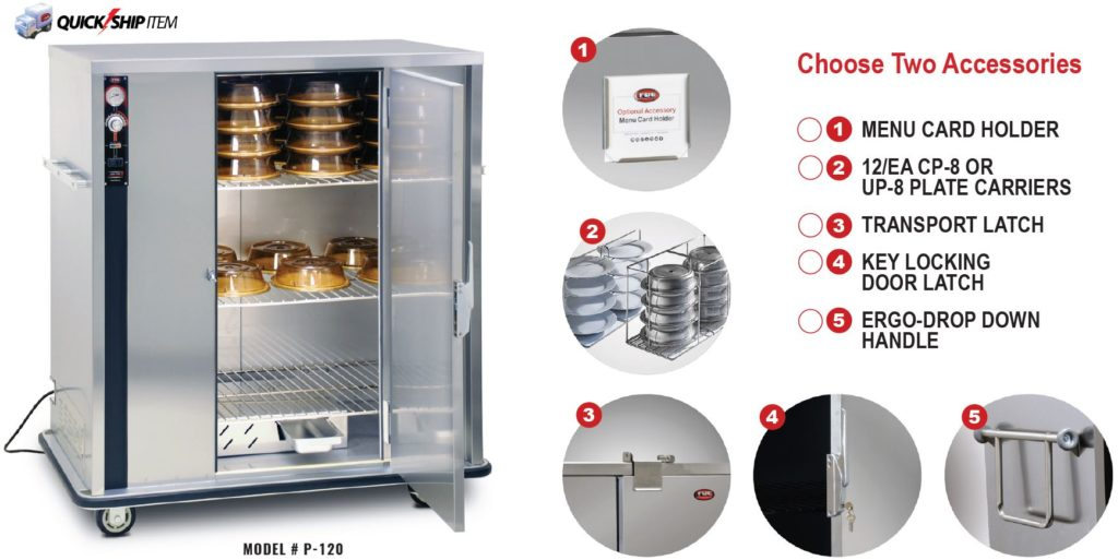 heated holding cabinet for banquets and food transport