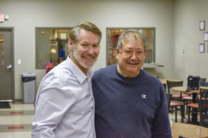 Deron Lichte (FWE President, left) shown with Javier (Right) on Retirement Celebration Day