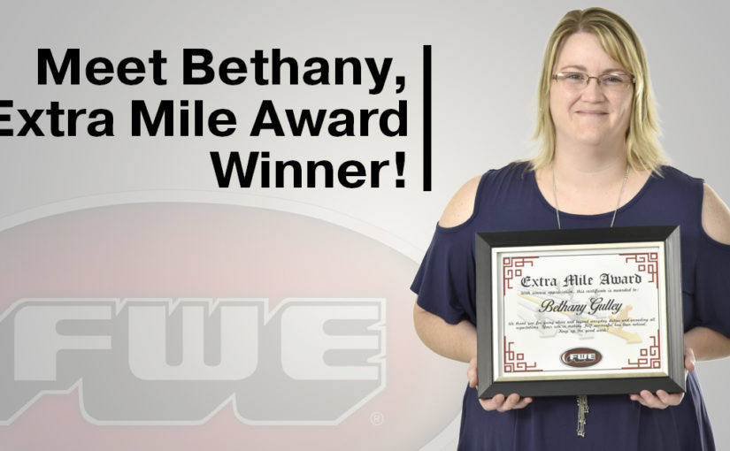 Congratulations to Bethany Gulley our latest 'Extra Mile Award' Winner!
